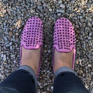 UNIF Pink Hell-raiser Loafers
